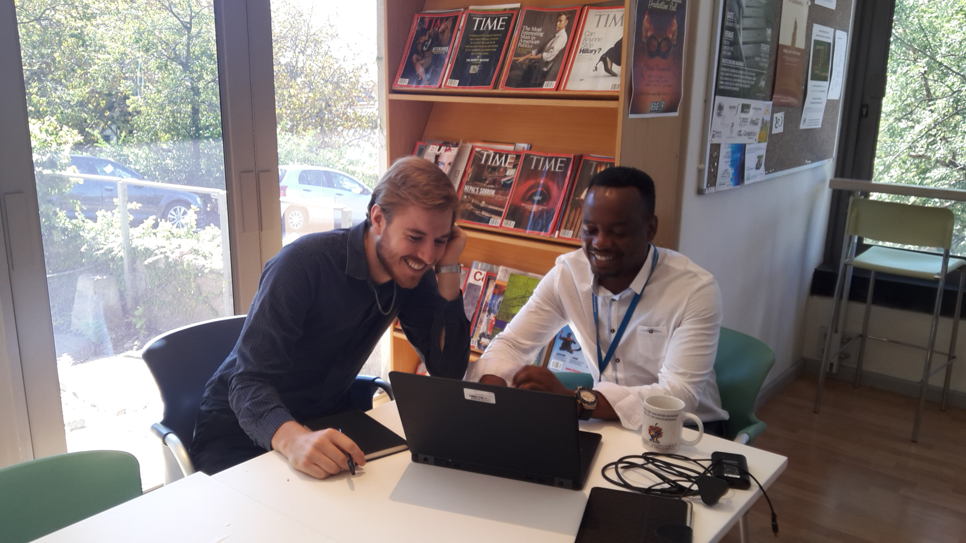 Dr Grant Ballantyne visiting scholar and Dr Edson Charikinya