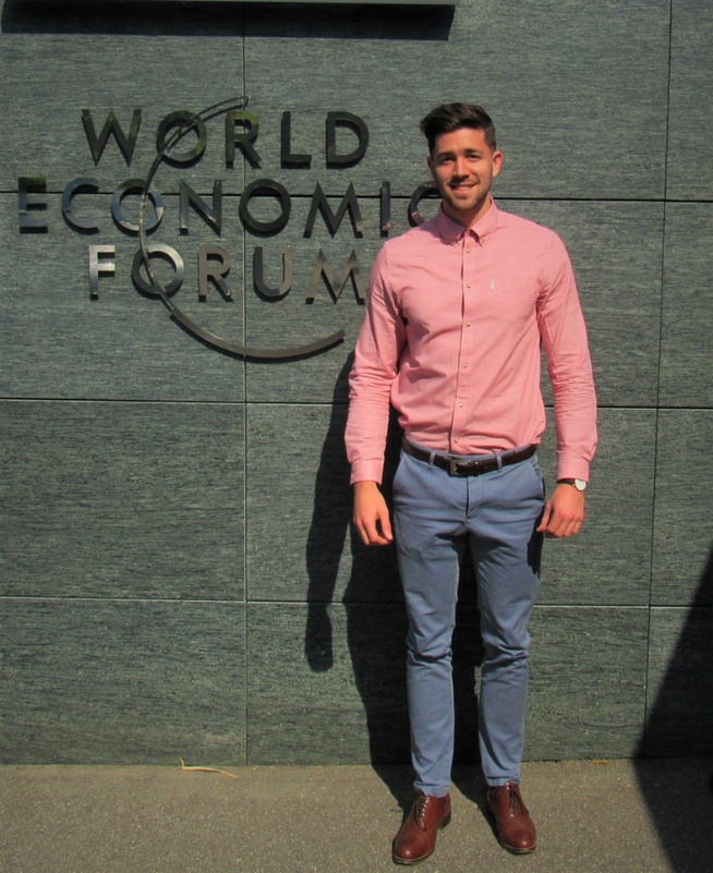Corey accepted for an internship at the World Economic Forum (WEF)