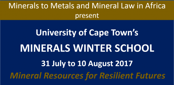 Graphic of UCT Minerals Winter School